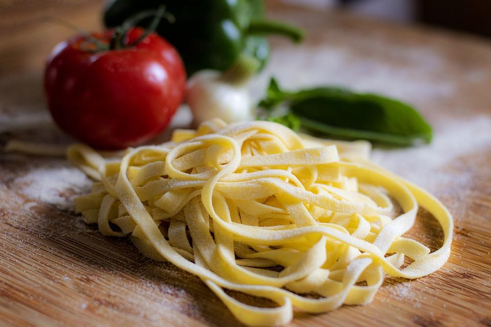 Zutaten für italienische Nudelrezepte